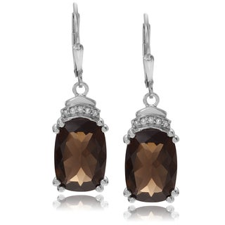 Journee Collection Sterling Silver Topaz Dangle Earrings