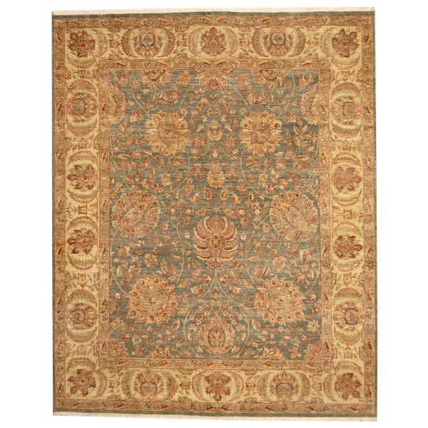 Handmade Herat Oriental Indo Mahal Wool Rug (India) - 8'2 x 10'2