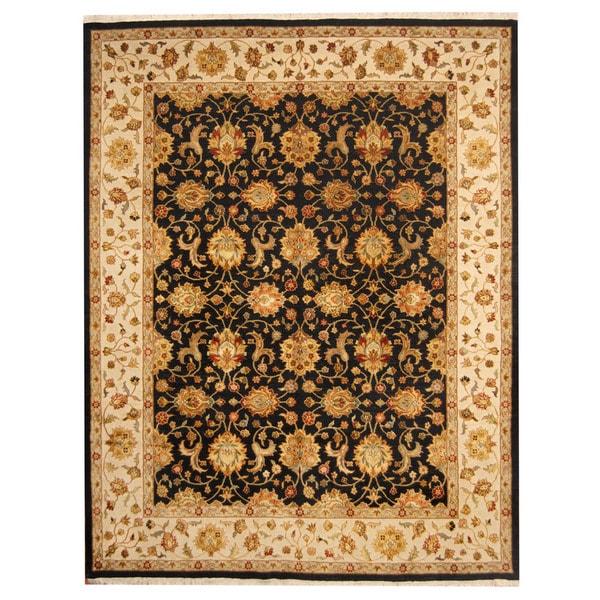 Herat Oriental Indo Hand-knotted Tabriz Wool Rug (8'2 x 10'5) - 8'2 x 10'5