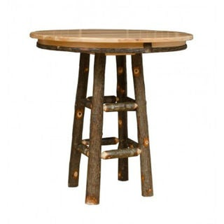 Rustic Hickory 42x42 Pub Table Table ONLY- Amish Made USA