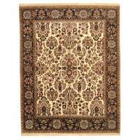 Handmade Herat Oriental Indo Sarouk Wool Rug  - 8' x 10' (India)