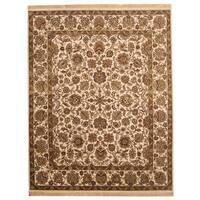 Handmade Herat Oriental Indo Mahal Wool Rug (India) - 8' x 10'
