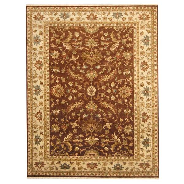 Handmade Herat Oriental Indo Tabriz Wool Rug - 7'2 x 9'4 (India)