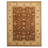 Herat Oriental Indo Hand-knotted Tabriz Wool Rug (7'2 x 9'4) - 7'2 x 9'4