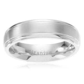 Men's Titanium Brushed Center Step Edge Wedding Band https://ak1.ostkcdn.com/images/products/10618389/P17688820.jpg?impolicy=medium