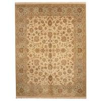 Herat Oriental Indo Hand-knotted Tabriz Wool Rug (8' x 10'3) - 8' x 10'3