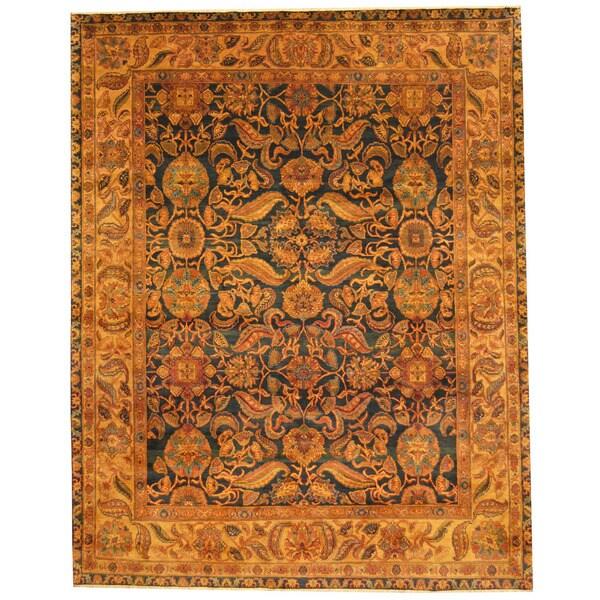 Handmade Herat Oriental Indo Isfahan Wool Rug - 8' x 9'10 (India)