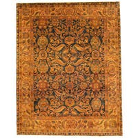 Herat Oriental Indo Hand-knotted Isfahan Wool Rug (8' x 9'10) - 8' x 9'10