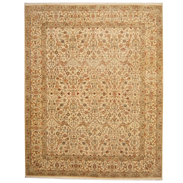 Herat Oriental Indo Hand-knotted Isfahan Wool Rug (8' x 10') - 8' x 10'