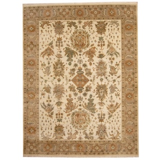 Herat Oriental Indo Hand-knotted Oushak Wool Rug (8' x 10'4)