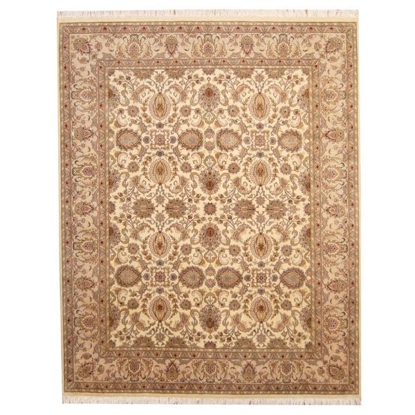 Handmade Herat Oriental Pakistani Tabriz Wool Rug - 8'2 x 10'2 (Pakistan)