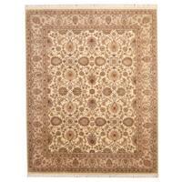 Herat Oriental Pakistani Hand-knotted Tabriz Wool Rug (8'2 x 10'2) - 8'2 x 10'2