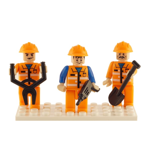 Brictek Construction 3 Mini-Figurine Set