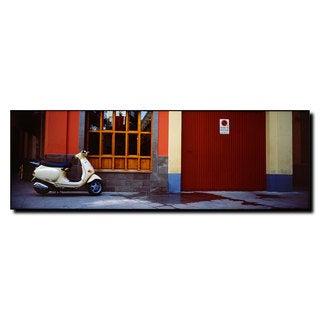Preston 'Scooter in Spain' 8x24 Canvas Wall Art