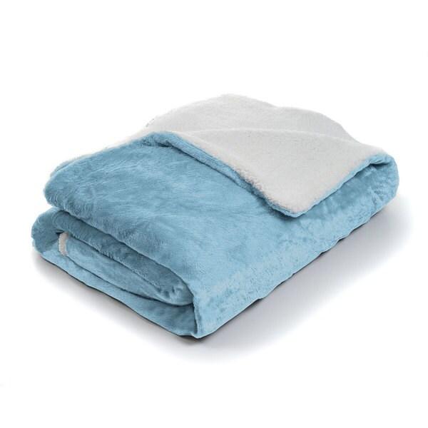 Fleece Blanket with Sherpa Backing (Twin)