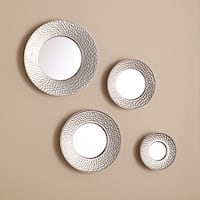 The Curated Nomad Lotta Hammered Silver Sphere Wall Mirror Set