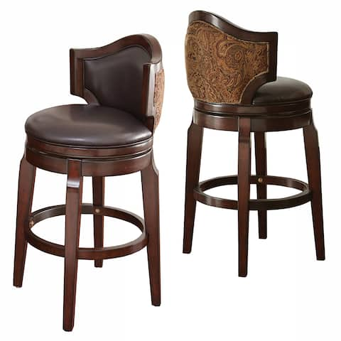 Jensen 30-inch Low Back Bar Stool by Greyson Living (Set of 2)