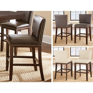Greyson Living Tisbury Faux Leather Bar Stool (Set of 2)