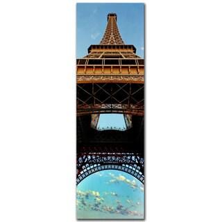 Preston 'Tour de Eiffel I' 8x24 Canvas Wall Art