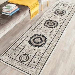 Safavieh Hand-Knotted Kenya Ivory/ Grey Wool Rug (2'3 x 8')