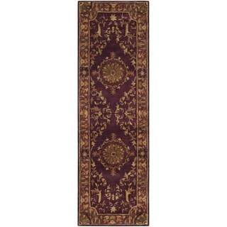 Safavieh Handmade Empire Dani Traditional Oriental Wool Rug (26 x 8 Runner - Burgundy)