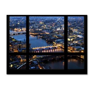 Philippe Hugonnard 'Window View London by Night 7' 35x47 Canvas Wall Art