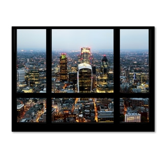 Philippe Hugonnard 'Window View London City 2' 35x47 Canvas Wall Art