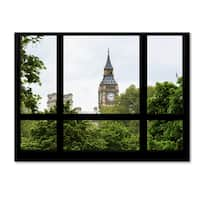 Philippe Hugonnard 'Window View Big Ben 2' 35x47 Canvas Wall Art