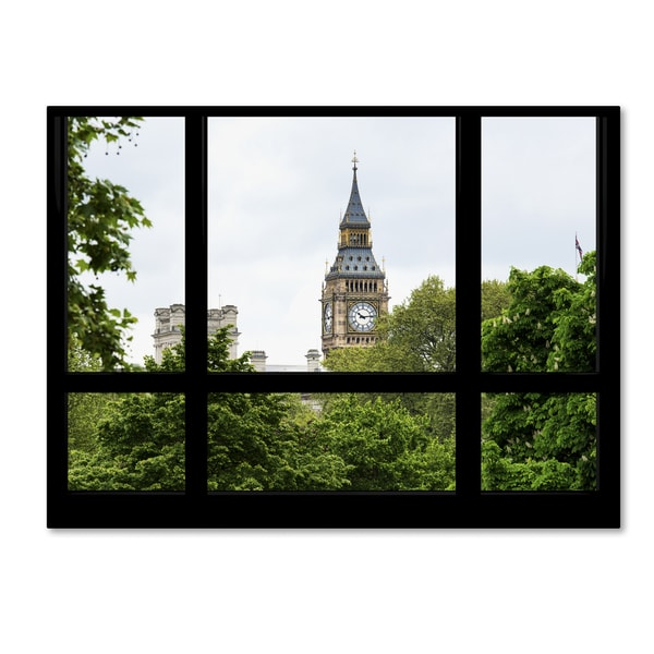 Philippe Hugonnard 'Window View Big Ben 2' 35x47 Canvas Wall Art