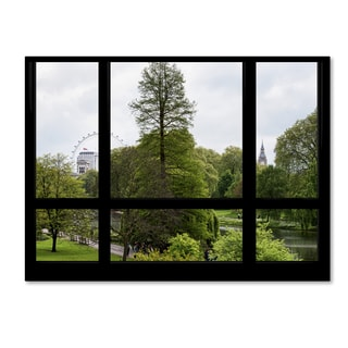 Philippe Hugonnard 'Window View London Park 2' 35x47 Canvas Wall Art