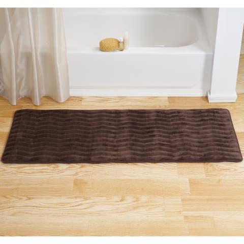 Windsor Home Microfiber Nonslip Memory Foam Bathmat - 24.25 x 60