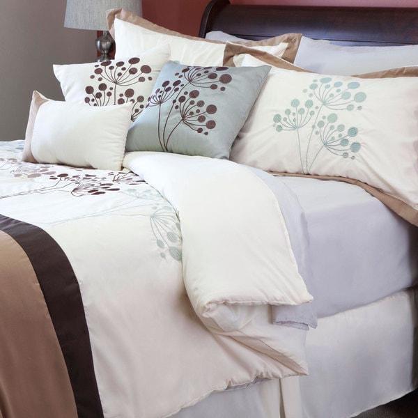 Windsor Home Brooke 7 Piece Embroidered Comforter Set