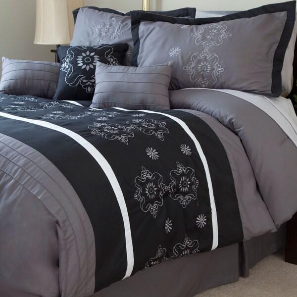 Windsor Home Julia 7 Piece Embroidered Comforter Set
