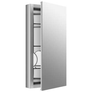 Kohler Verdera 15 inch W x 30 inch H Recessed Medicine Cabinet in Anodized Aluminum