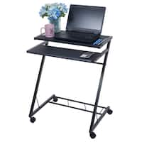 Mobile Rolling Cart Compact Computer Desk