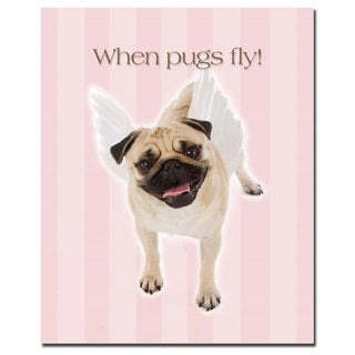 Gifty Idea Greeting Cards and Such! 'Pug Angel' 26x32 Canvas Wall Art