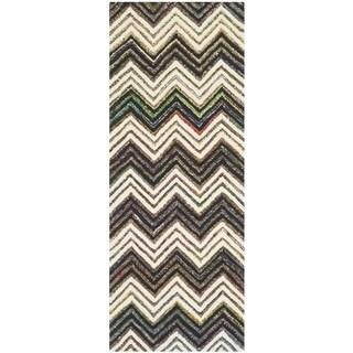 Safavieh Handmade Nantucket Waltraut Contemporary Cotton Rug (23 x 6 Runner - Ivory/Black)