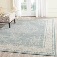 Safavieh Hand-Knotted Kenya Ivory/ Blue Wool Rug - 7' Square