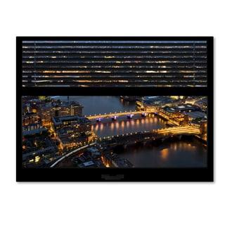 Philippe Hugonnard 'Window View London by Night 1' 24x32 Canvas Wall Art