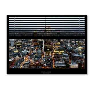 Philippe Hugonnard 'Window View London City 1' 24x32 Canvas Wall Art