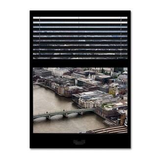 Philippe Hugonnard 'Window View City of London 2' 24x32 Canvas Wall Art
