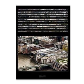 Philippe Hugonnard 'Window View City of London 1' 24x32 Canvas Wall Art