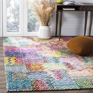 Safavieh Handmade Nantucket Modern Abstract Beige/ Brown Cotton Rug (4' x 4' Square)