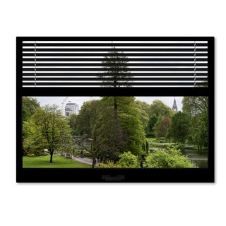 Philippe Hugonnard 'Window View London Park 1' 24x32 Canvas Wall Art