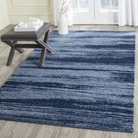 Safavieh Retro Modern Abstract Light Blue/ Blue Distressed Rug - 6' Square