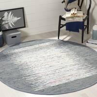 Safavieh Hand-woven Montauk Ivory/ Grey Cotton Rug - 6' Round