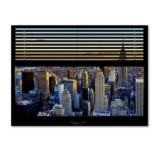 Philippe Hugonnard 'Window View NYC Sunset 1' 24x32 Canvas Wall Art