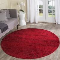 Safavieh Adirondack Modern Red/ Black Rug - 6' Round