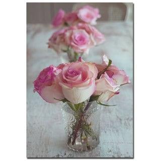 Patty Tuggle 'Shabby Roses' 22x32 Canvas Wall Art