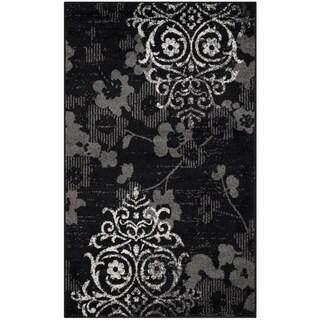 Safavieh Adirondack Vintage Damask Black/ Silver Rug (2'6 x 4')